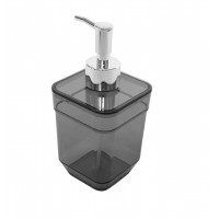 Дозатор для жидкого мыла Eco Fabric CUBE, прозрачно-черный (TRL-4023-TB)