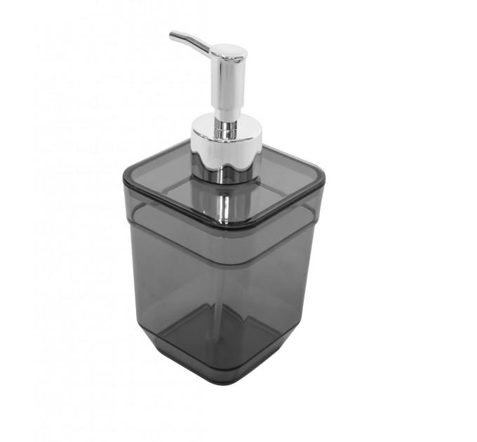 Дозатор для жидкого мыла Eco Fabric CUBE, прозрачно-черный (TRL-4023-TB) - фото № 1