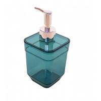 Дозатор для жидкого мыла Eco Fabric CUBE, прозрачно-бирюзовый (TRL-4023-TT)