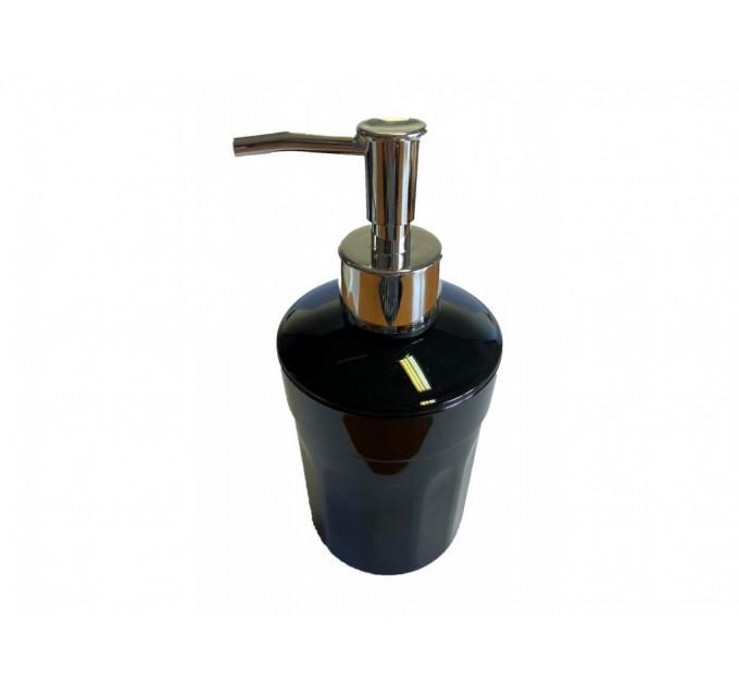 Дозатор для жидкого мыла Eco Fabric MOON, черный (TRL-4015-SB) - фото № 1