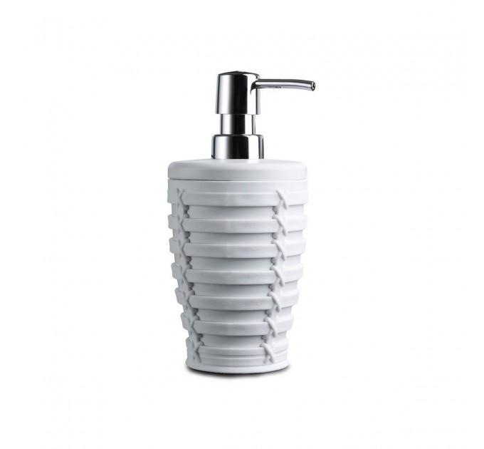 Дозатор для жидкого мыла Prima Nova PALM, белый (E57-01) - фото № 1