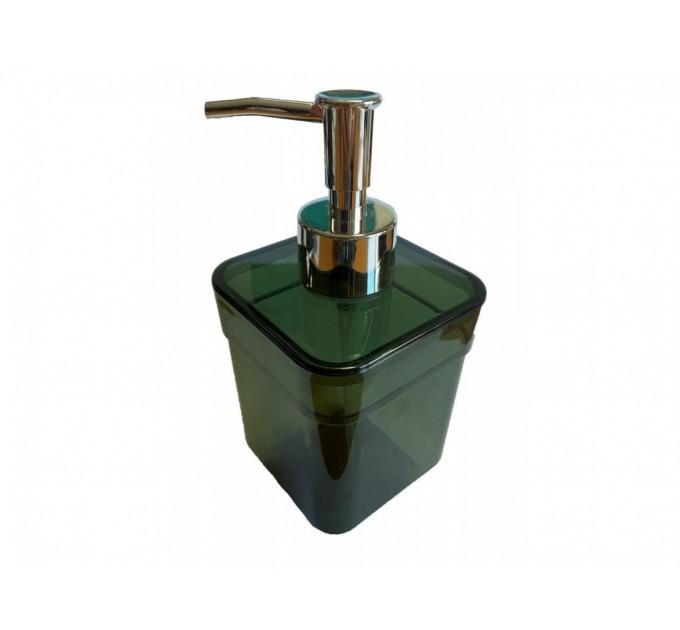Дозатор для жидкого мыла Eco Fabric CUBE, прозрачно-зеленый (TRL-4023-TG)