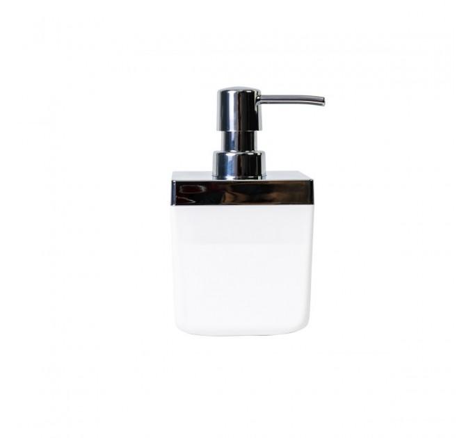 Дозатор для жидкого мыла Prima Nova TOSCANA, белый (SA01-01) - фото № 1