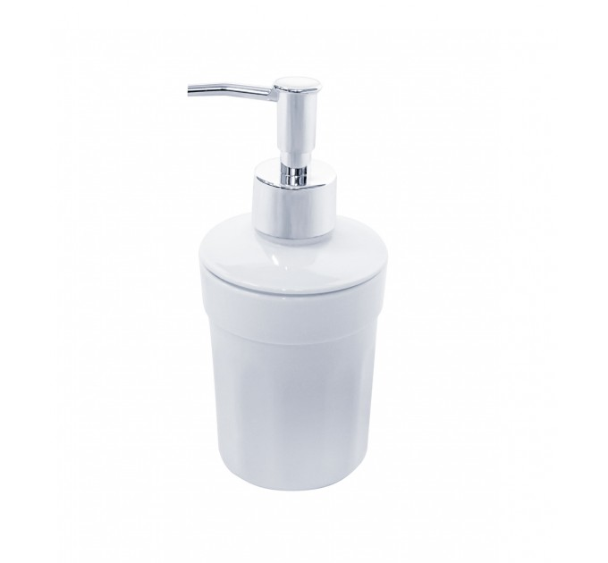 Дозатор для жидкого мыла Eco Fabric MOON, белый (TRL-4015-SW)