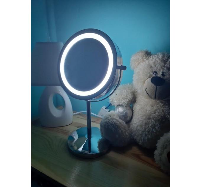 Зеркало косметическое с LED подсветкой d=15см Eco Fabric (TRL0403-15LED)