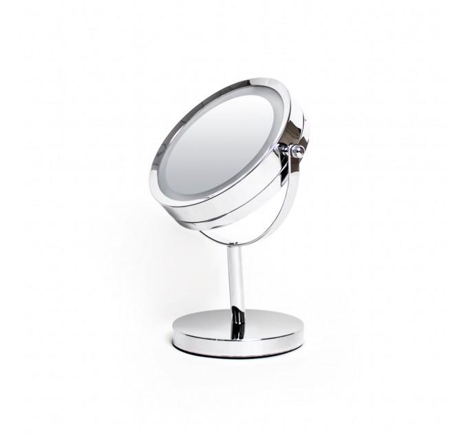 Зеркало косметическое с LED подсветкой d=17см Eco Fabric (TRL0603-17LED) - фото № 1