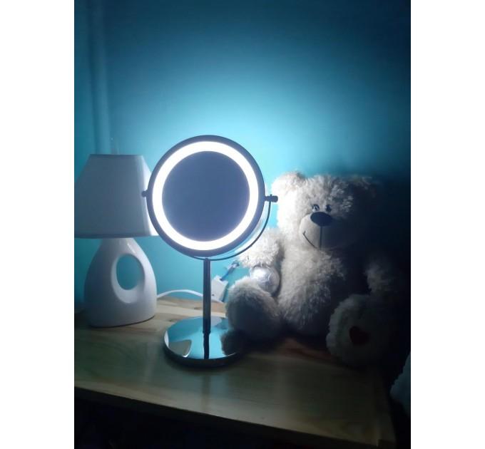 Зеркало косметическое с LED подсветкой d=17см Eco Fabric (TRL0603-17LED)