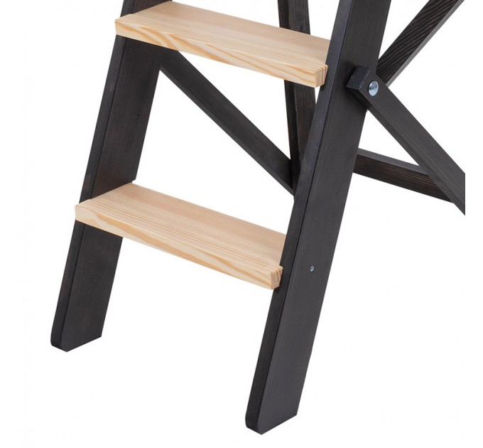 Стремянка бытовая деревянная LOFT 3 ступени, венге (LOFT-303) - фото № 6