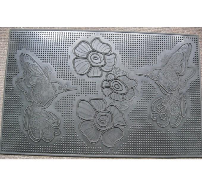 Коврик под двери Гнивань Колибри 35*55 см, резиновый (RMP06-3555-RO) - фото № 1
