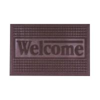 Коврик под двери с кромкой Dream Land Кольца 40*60см, коричневый (JF1976-brown)