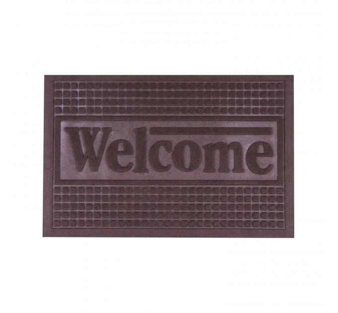 Коврик под двери с кромкой Dream Land Кольца 40*60см, коричневый (JF1976-brown) - фото № 1