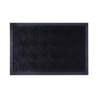 Коврик под двери с кромкой Dream Land Кольца 40*60см, черный (JF1976-black)