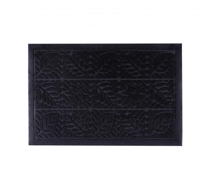 Коврик под двери Dream Land Листья 40*60см, черный (JF1984-black) - фото № 1