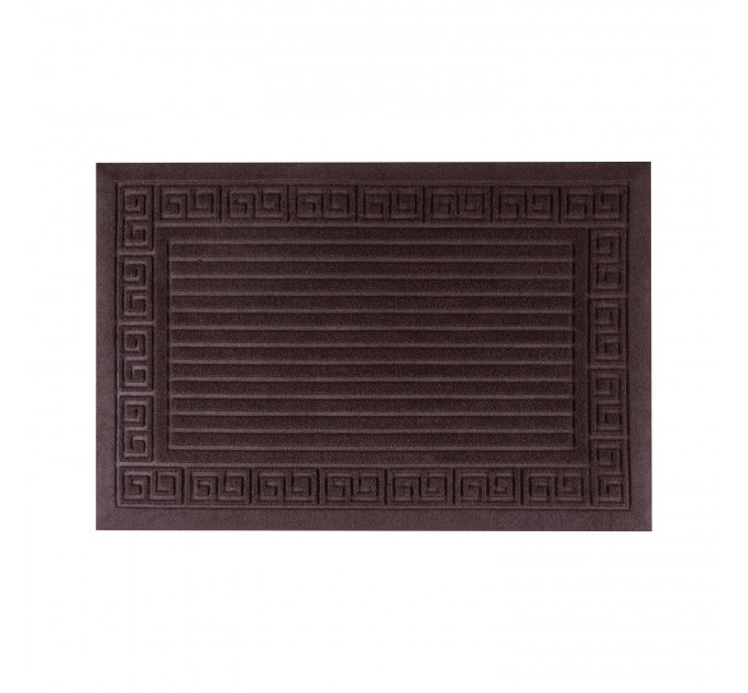 Коврик под двери Dream Land Полоски 40*60см, коричневый (JF1982-brown) - фото № 1