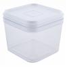 Емкость для сыпучих продуктов Алеана 0.6л, прозрачный/белый PS (168024)