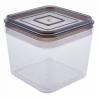 Емкость для сыпучих продуктов Алеана 0.6л, прозрачный/коричнево прозрачный (168024)