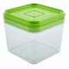 Емкость для сыпучих продуктов Алеана 0.6л, прозрачный/оливковый PS (168024)
