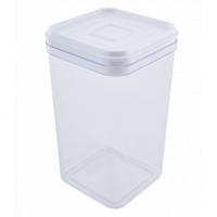 Емкость для сыпучих продуктов Алеана 1.3л, прозрачный/белый PS (168025)