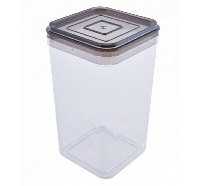 Емкость для сыпучих продуктов Алеана 1.3л, прозрачный/коричнево прозрачный (168025) - фото № 1