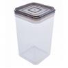 Емкость для сыпучих продуктов Алеана 1.3л, прозрачный/коричнево прозрачный (168025)