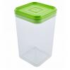 Емкость для сыпучих продуктов Алеана 1.3л, прозрачный/оливковый PS (168025)