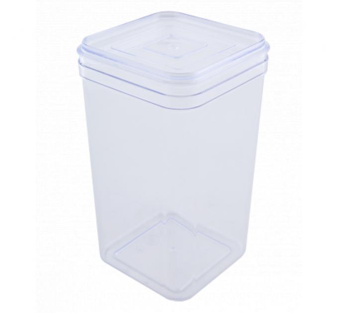 Емкость для сыпучих продуктов Алеана 1.3л, прозрачный/прозрачный PS (168025) - фото № 1