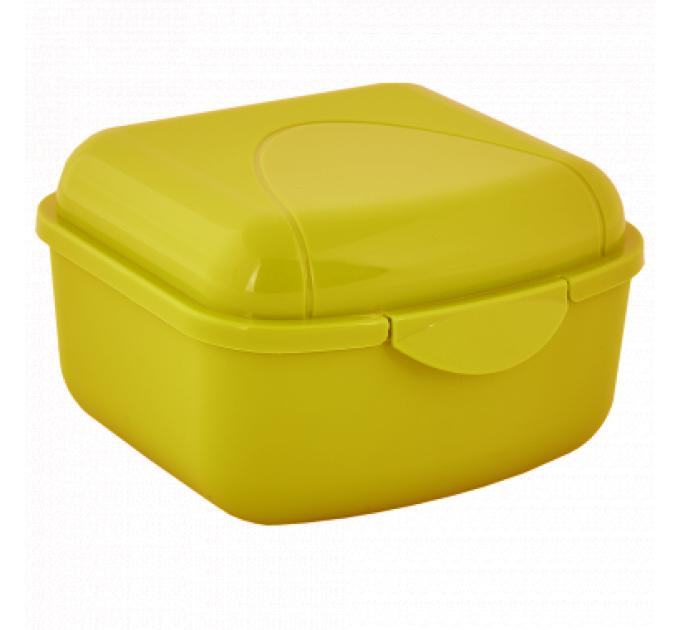 Контейнер универсальный Алеана XS 11.5*8.5*6см, желтый/прозрачный (168015) - фото № 1