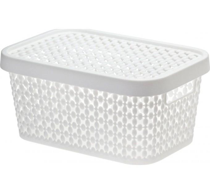 Коробка ПИРУЛА IDEA 1.5л с крышкой, белый (М2347Б) - фото № 1