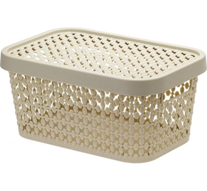 Коробка ПИРУЛА IDEA 12л с крышкой, латте (М2349Л) - фото № 1