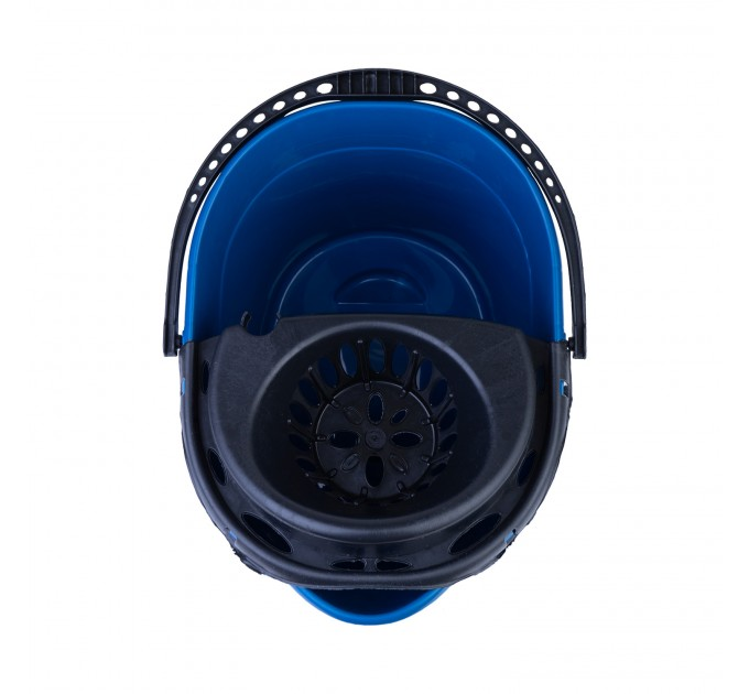 Ведро для уборки с отжимом OZHAVAN PLASTIK 14л, синий (N-53) - фото № 4