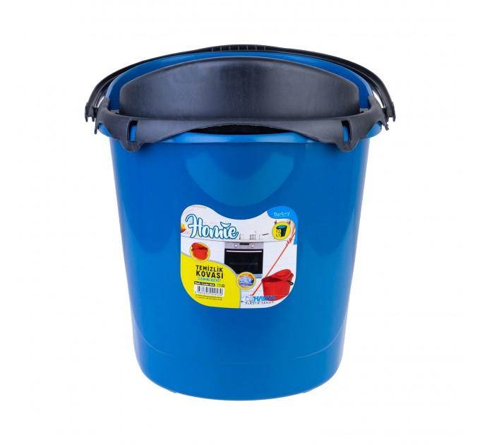 Ведро для уборки с отжимом OZHAVAN PLASTIK 14л, синий (N-53) - фото № 2