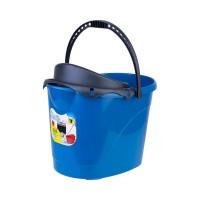 Ведро для уборки с отжимом OZHAVAN PLASTIK 14л, синий (N-53)