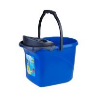 Ведро для уборки с отжимом OZHAVAN PLASTIK 16л, синий (N-52)
