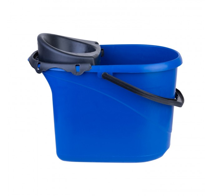 Ведро для уборки с отжимом OZHAVAN PLASTIK 16л, синий (N-52) - фото № 3