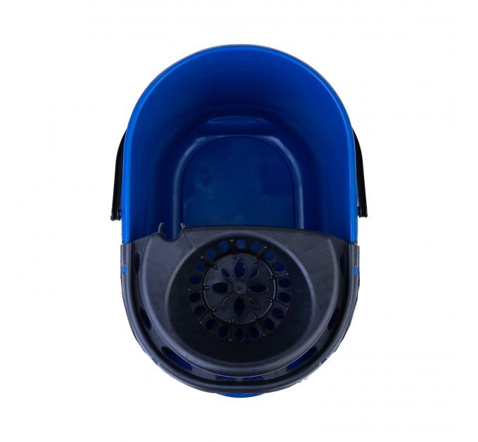 Ведро для уборки с отжимом OZHAVAN PLASTIK 16л, синий (N-52) - фото № 4
