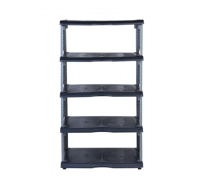 Полка для обуви 5-уровневая OZHAVAN PLASTIK Ротанг, черный (N-135) - фото № 2