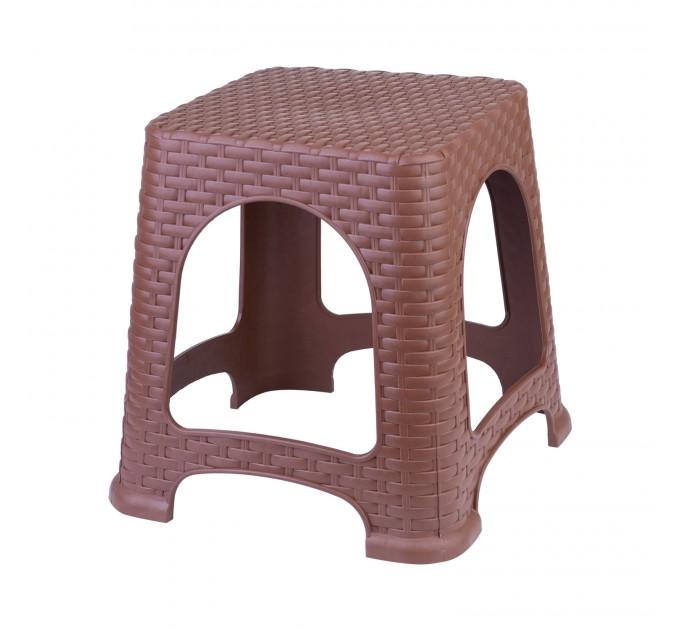 Табурет малый OZHAVAN PLASTIK Ротанг, светло-коричневый (N-124) - фото № 1