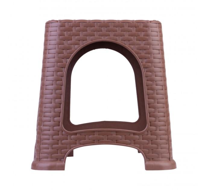 Табурет малый OZHAVAN PLASTIK Ротанг, светло-коричневый (N-124) - фото № 2