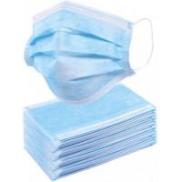 Медицинские маски трехслойные нестерильные 40 шт./уп., голубой (M-40)