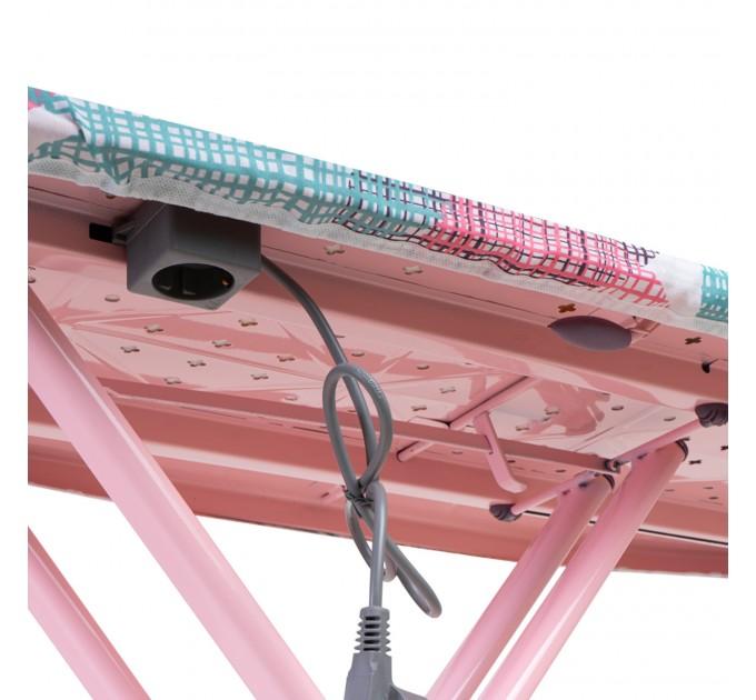 Гладильная доска 124*43 см Dogrular IRINA (14007-1-PLUG) с розеткой - фото № 5