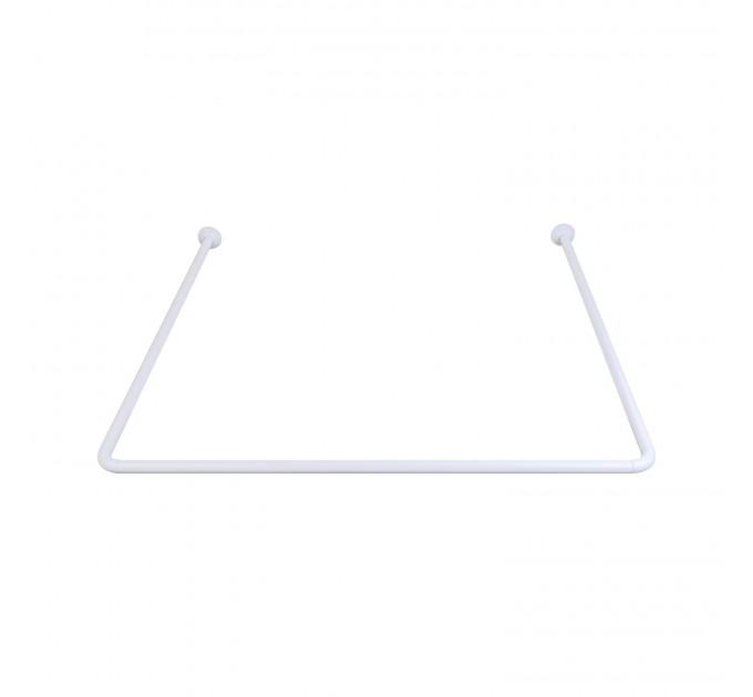Карниз для ванной угловой Prima Nova, белый (7162-1) - фото № 1