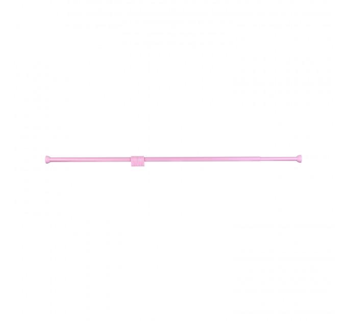 Карниз для ванной 115-220 см Chaoya LUX GALAXY, розовый (013-L) - фото № 2