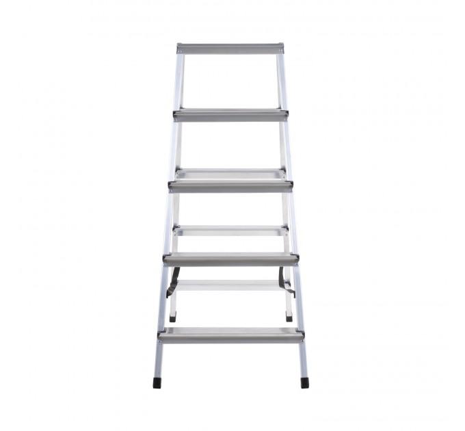 Лестница-стремянка Aloft алюминиевая двухсторонняя, 2*5 ступ., (ALDD5) - фото № 2
