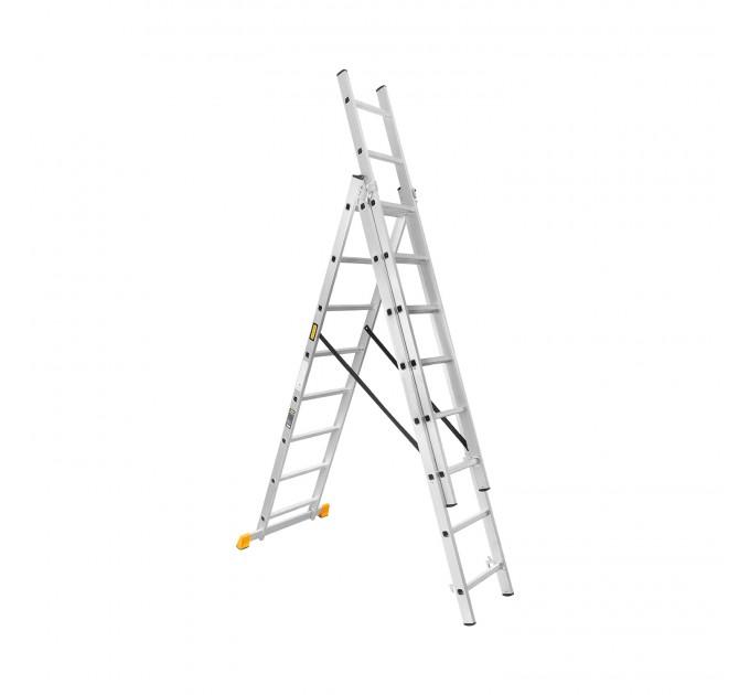 Лестница универсальная Aloft алюминиевая 3х8 (CLA-308) - фото № 1