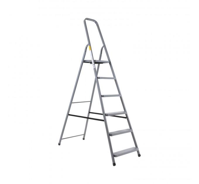 Лестница-стремянка Aloft стальная, 6 ступ. (DR-ST-D6) - фото № 1
