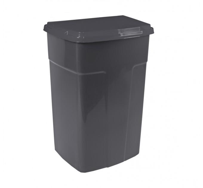 Бак мусорный Алеана 90л, темно-серый (122062) - фото № 1
