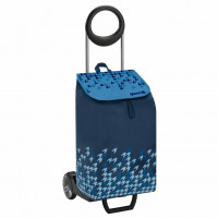 Сумка хозяйственная на колесах Gimi 50л IDEAL, голубой (GM89803)