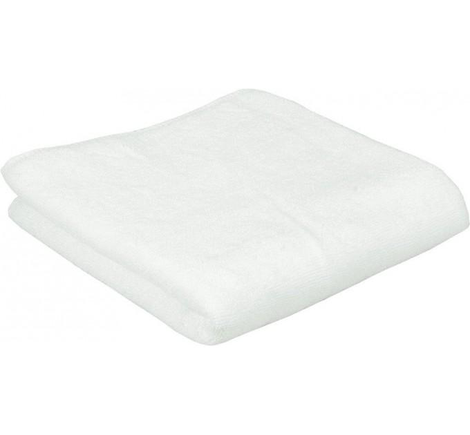 Махровое полотенце РУНО 70х140 плот. 500, нить 20/2, белый - фото № 1