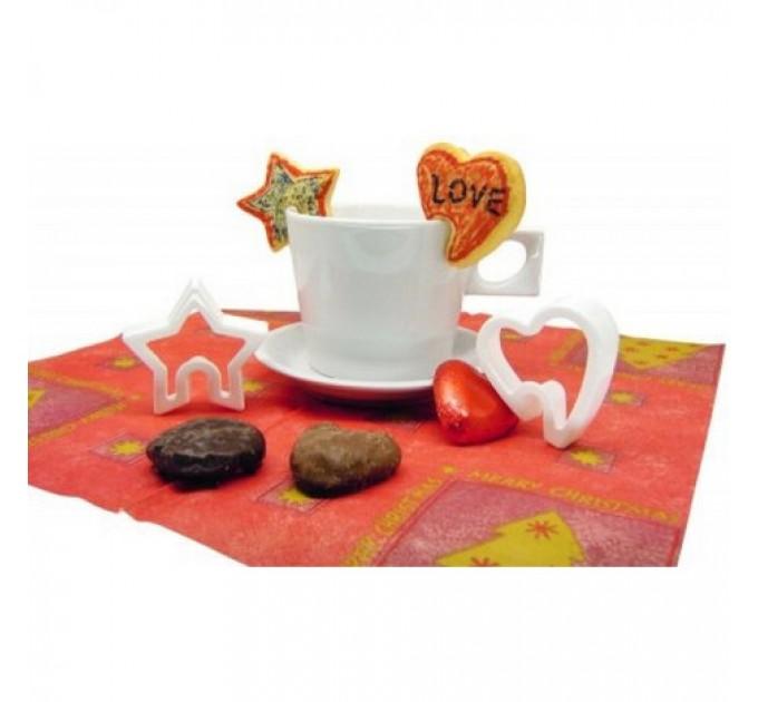 Формы для вырезания печенья валентинки на чашку Fackelmann 2шт, пластик (43035) - фото № 3