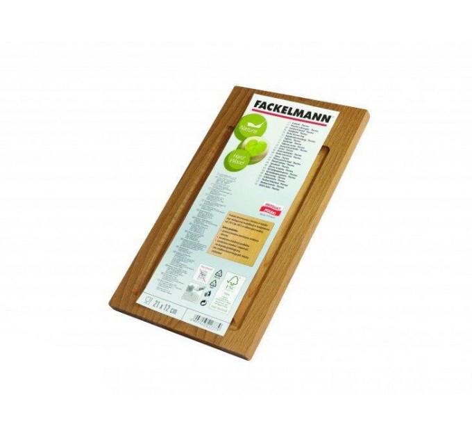 Доска разделочная Fackelmann с канавкой 21*12*1 см, термобук (521777) - фото № 1